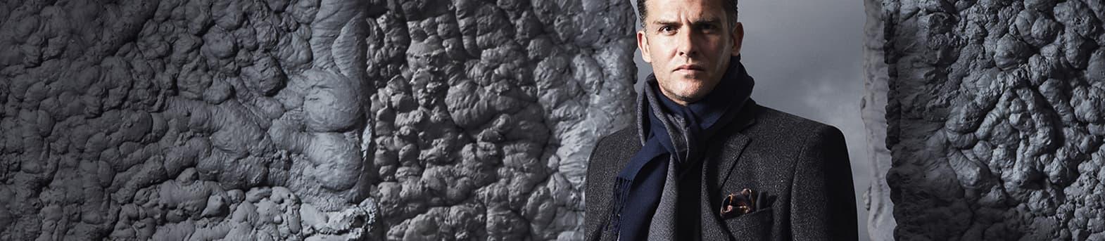 Men's Grey Coats & Jackets