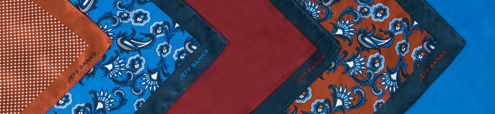 Men's Pocket Squares | Handkerchiefs | Jeff Banks Online