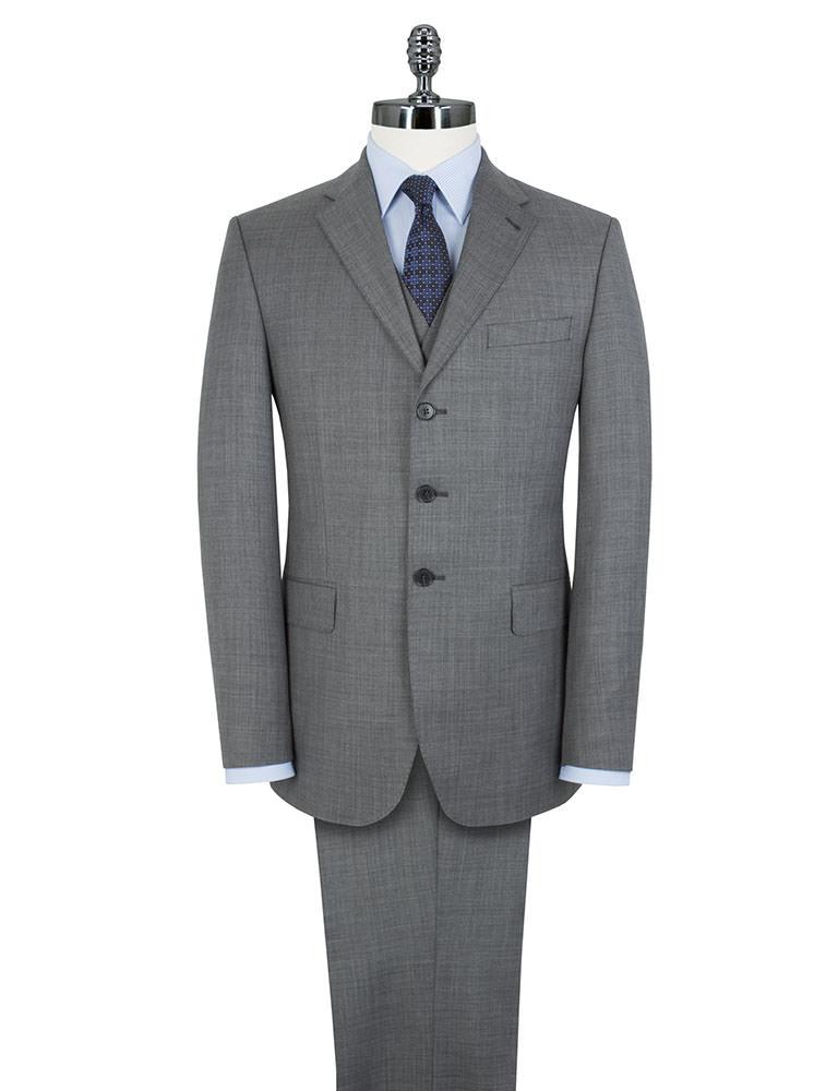 Men/'s Suit British Tailor 2 Piece Black Tailored Fit