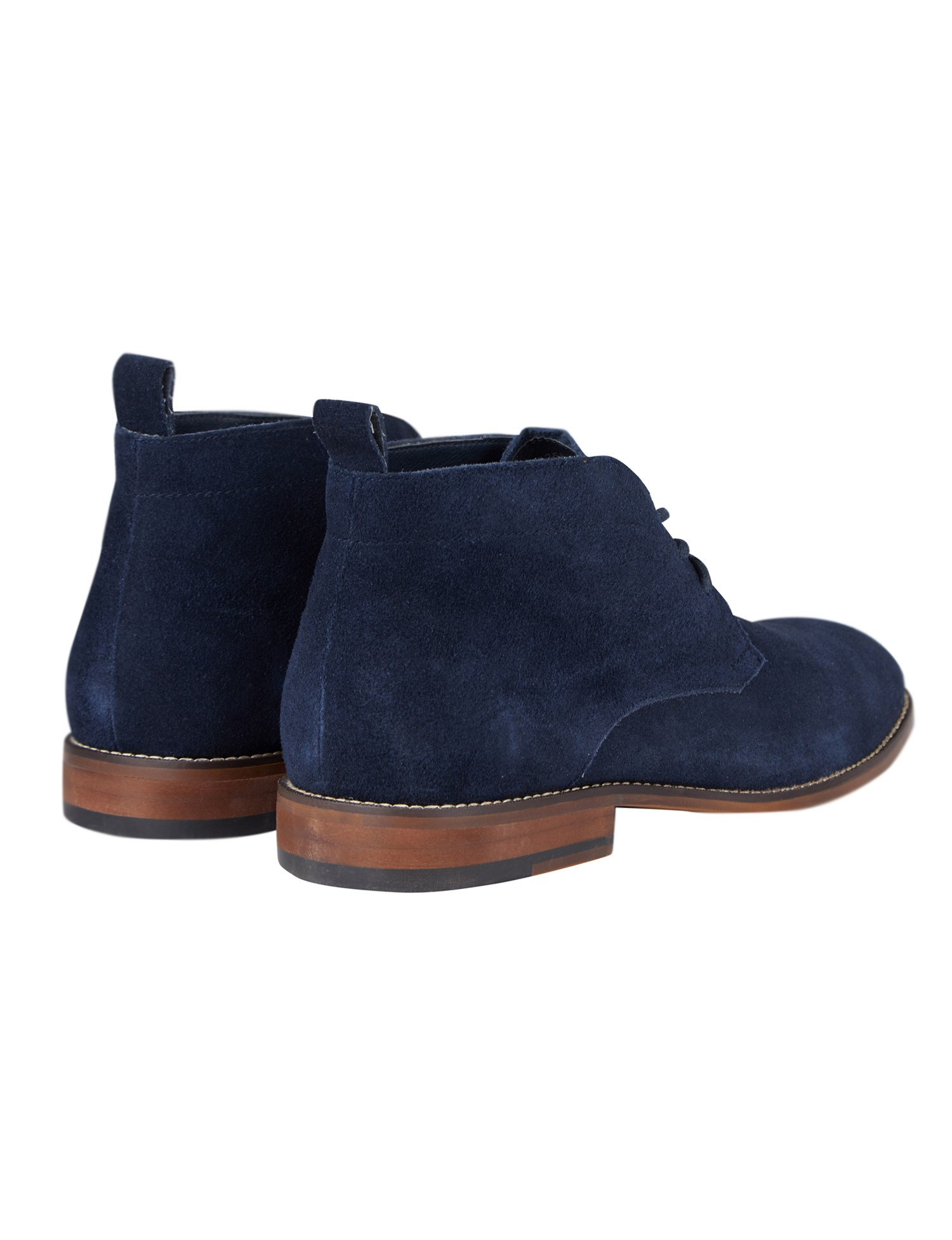 Jeff Banks Boots | Navy Suede Chukka