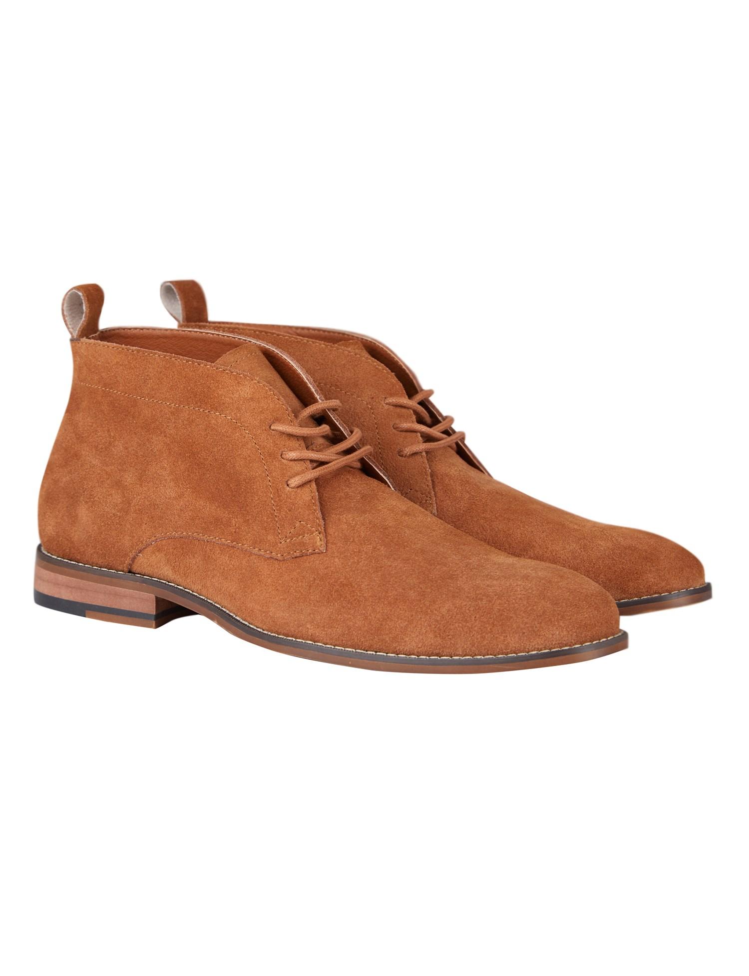 Men's Brown Suede Chukka Boots | Jeff