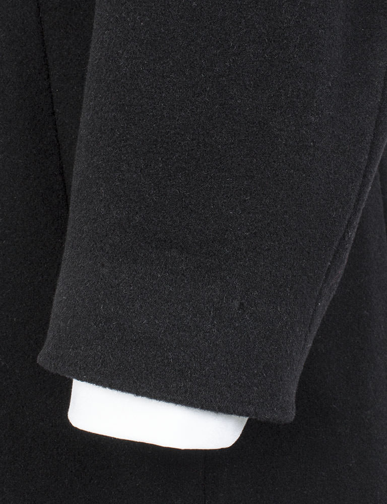 Jeff Banks Black Cashmere Blend Full Length Overcoat